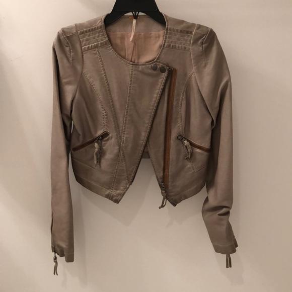 Free People Jackets & Blazers - Free People Cropped Leather Jacket